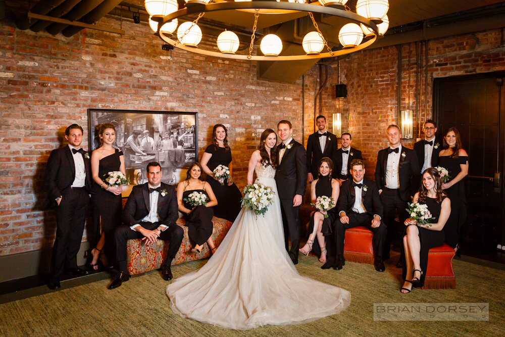Bridal party portrait at the Beekman Hotel