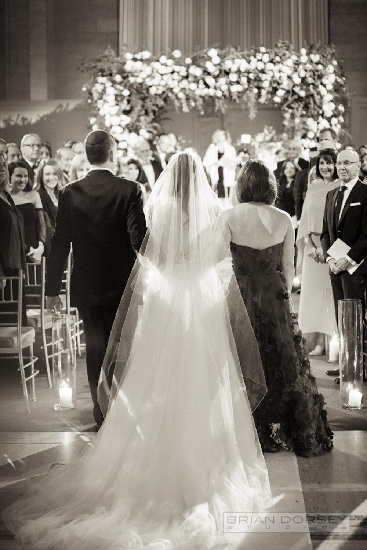 Cipriani wedding bride procession