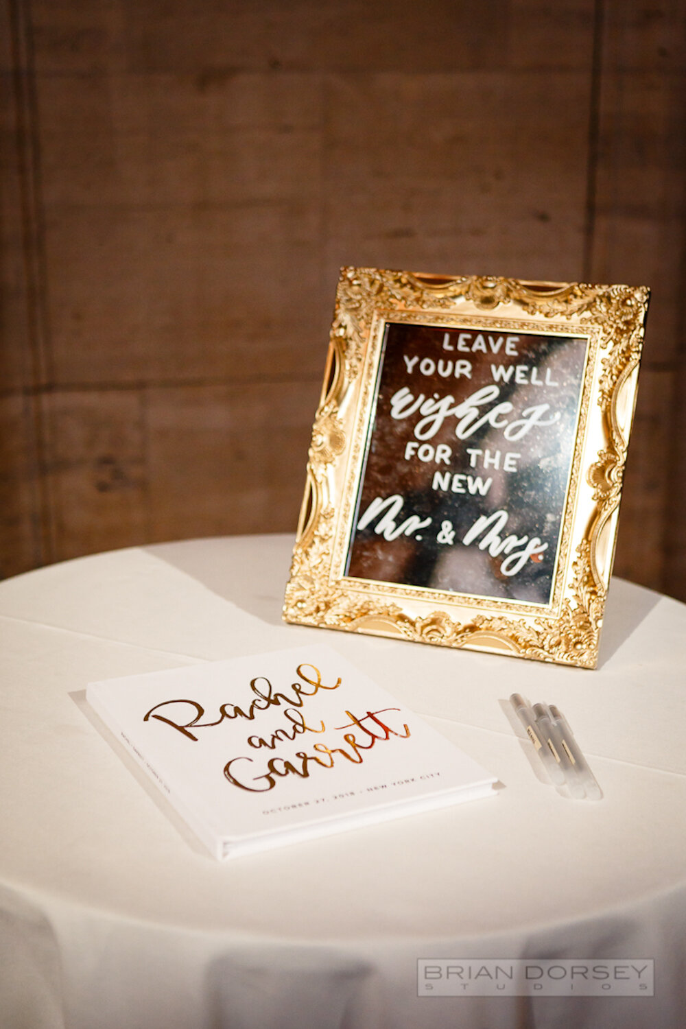 Cipriani wedding guest book and mirror sign
