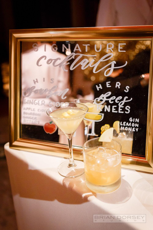Cipriani 25 Broadway Wedding signature cocktails