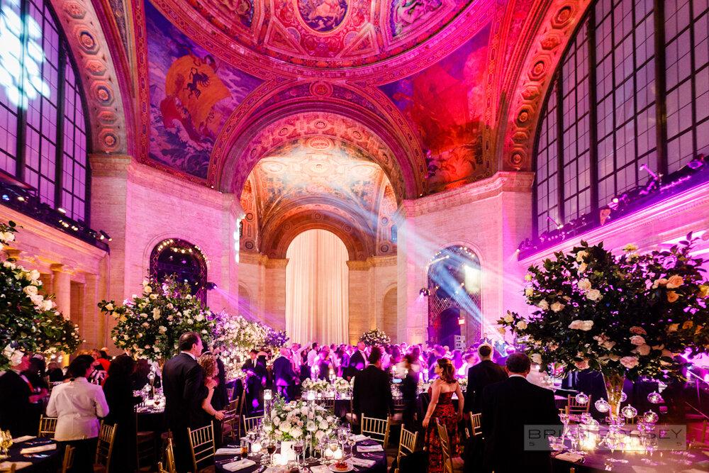 Cipriani 25 Broadway Wedding dancing lights