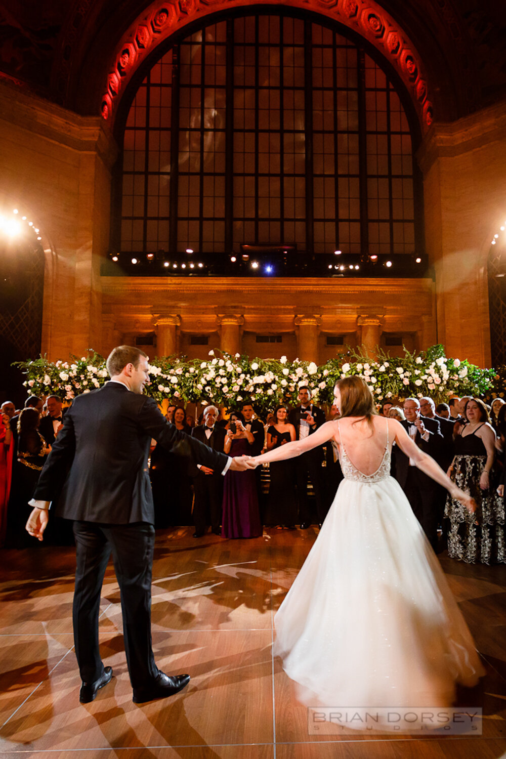 Cipriani 25 Broadway Wedding bride and groom first dance