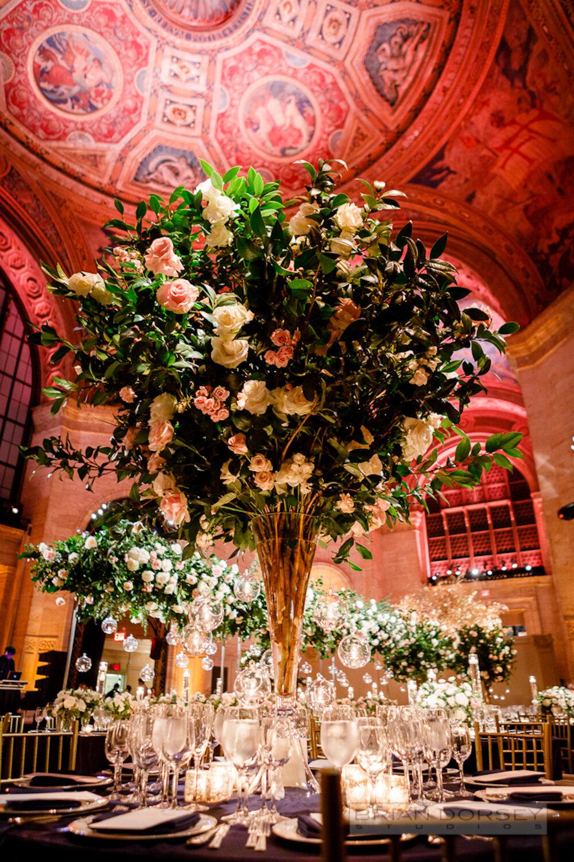 Cipriani 25 Broadway Wedding tall florals