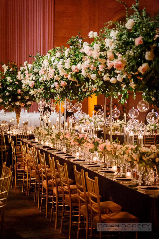 Cipriani 25 Broadway Wedding hanging flowers