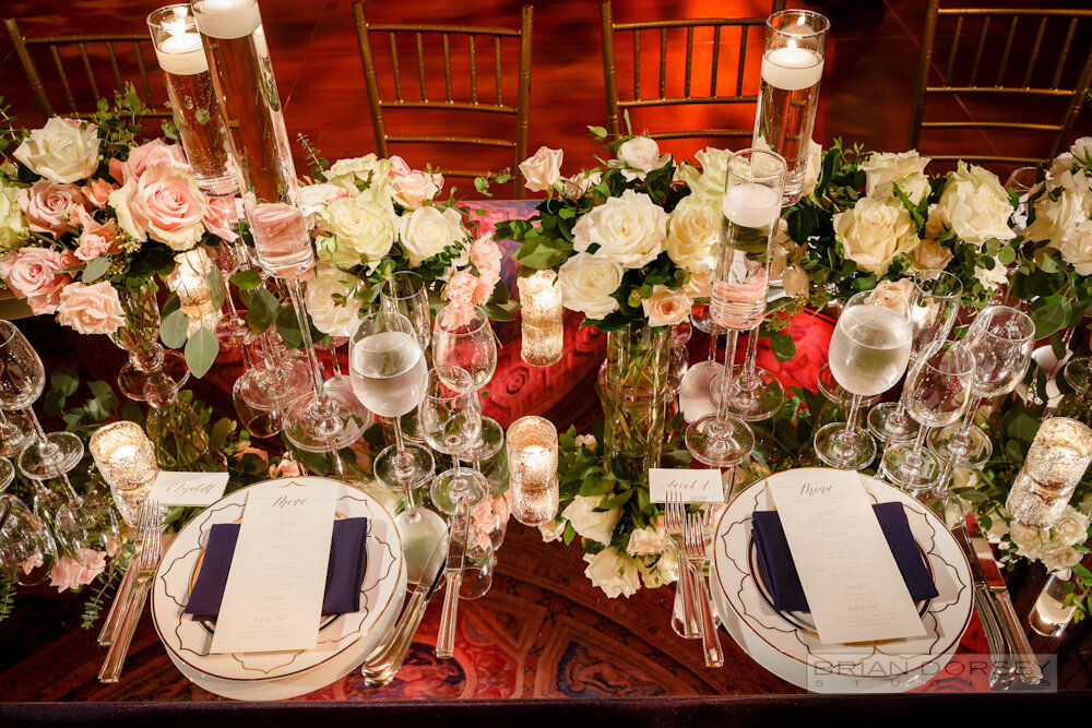 Cipriani 25 Broadway Wedding mirror table