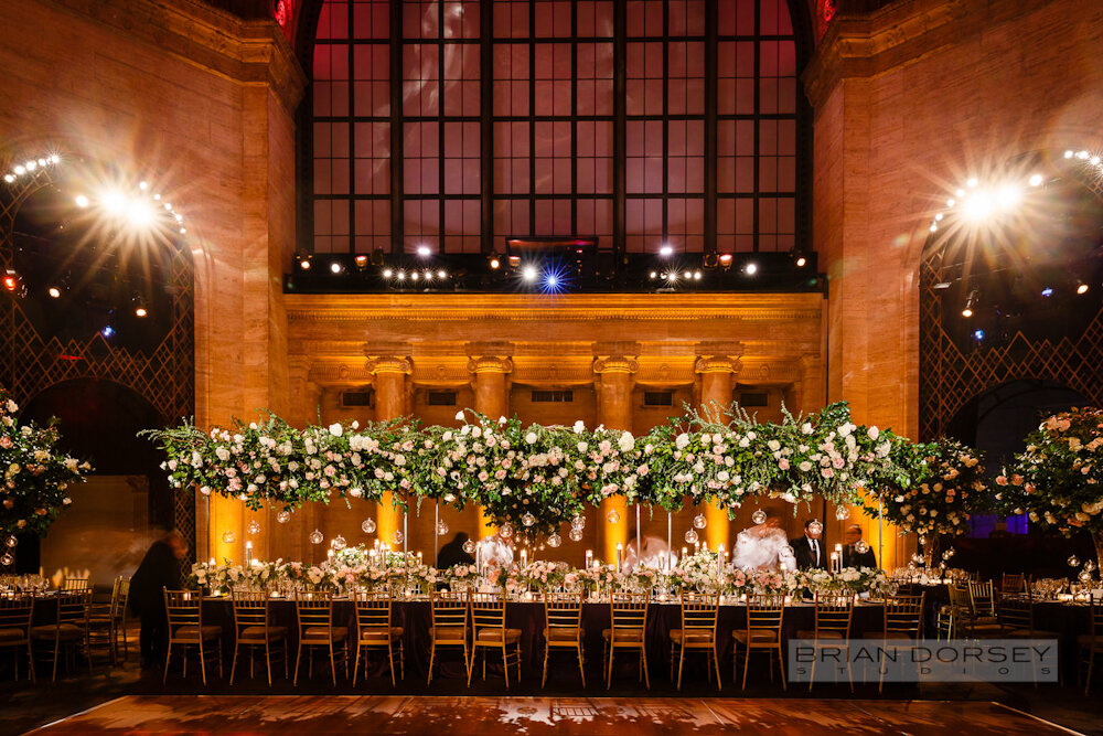 Cipriani 25 Broadway Wedding long head table