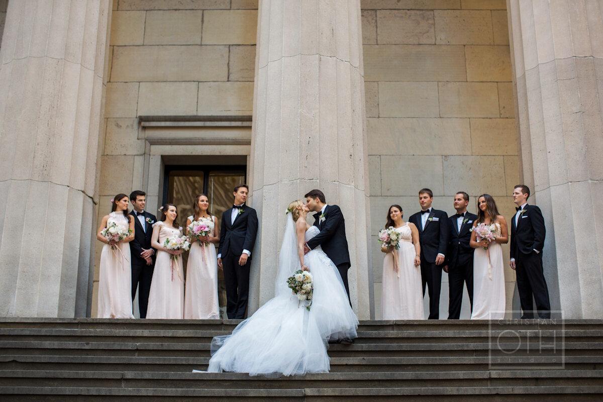 Cipriani Wall Street Wedding bridesmaids and groomsmen