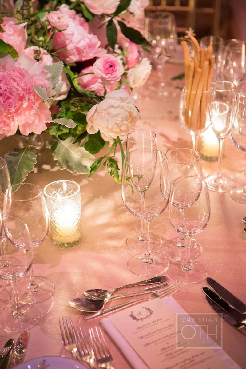 Cipriani Wall Street Wedding place setting