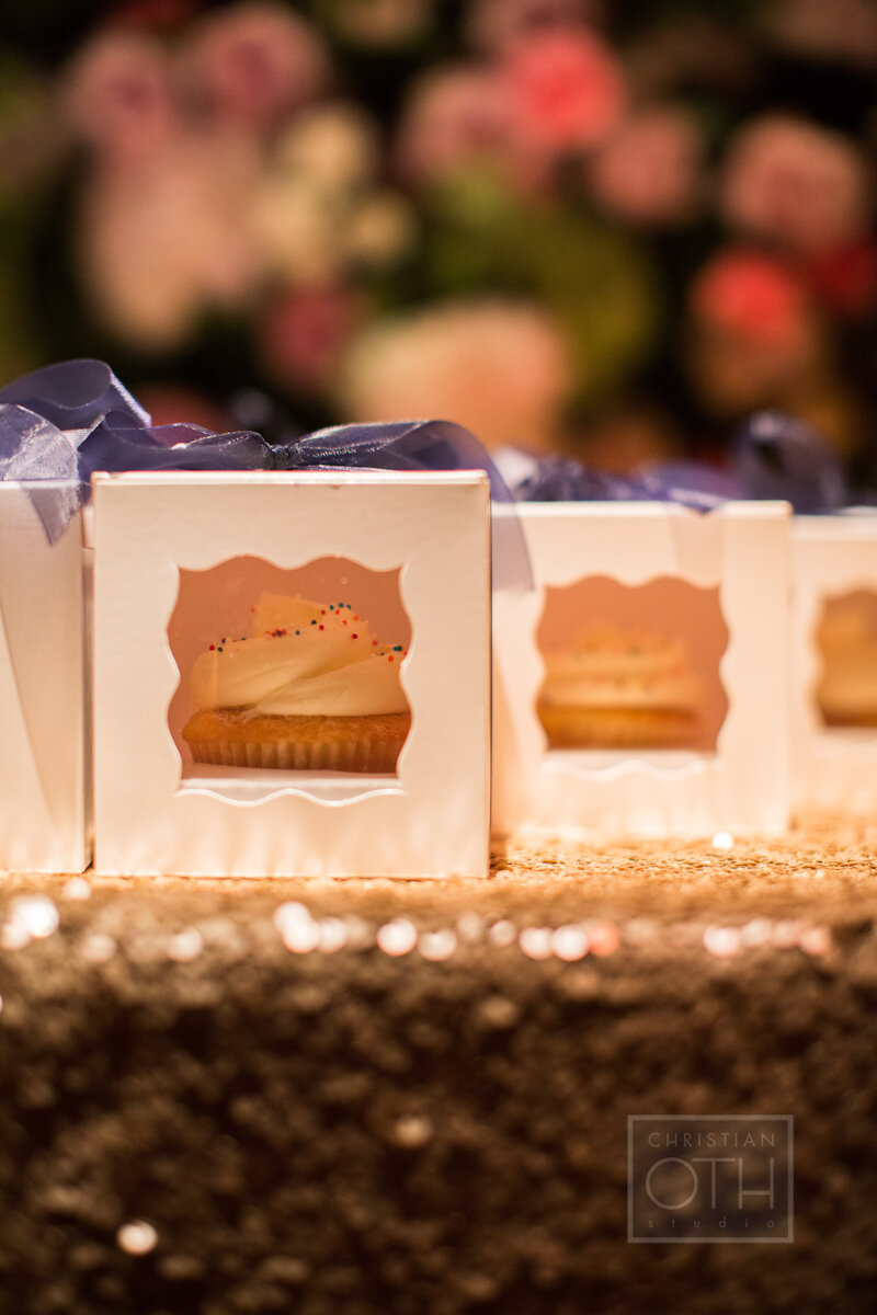 Cipriani Wall Street Wedding cupcake wedding favors