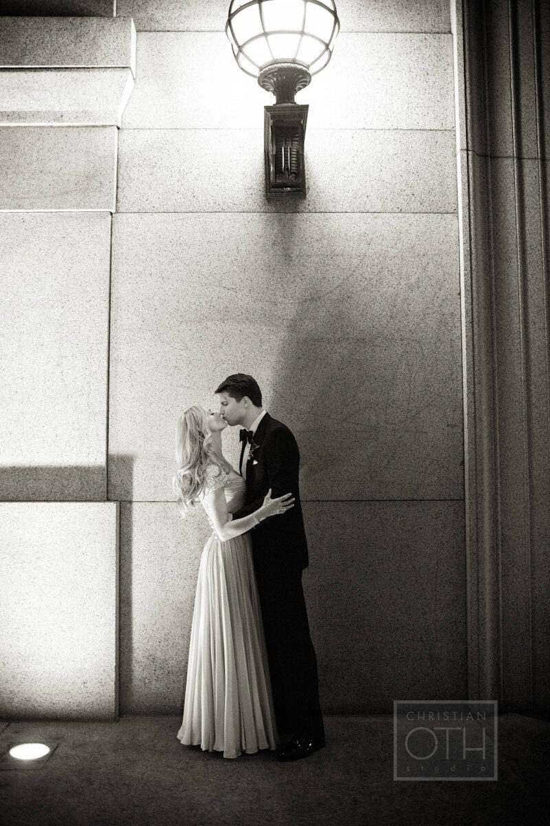 Cipriani Wall Street Wedding bride and groom