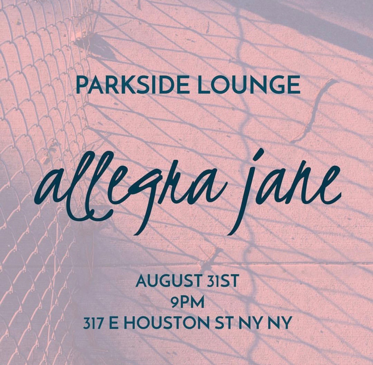Parkside Lounge - Allegra Jane performed an original set off of her forthcoming EP