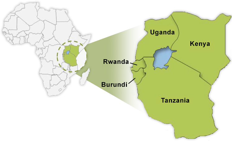 Uganda and Burundi are both part of the five-country East African Community (EAC)