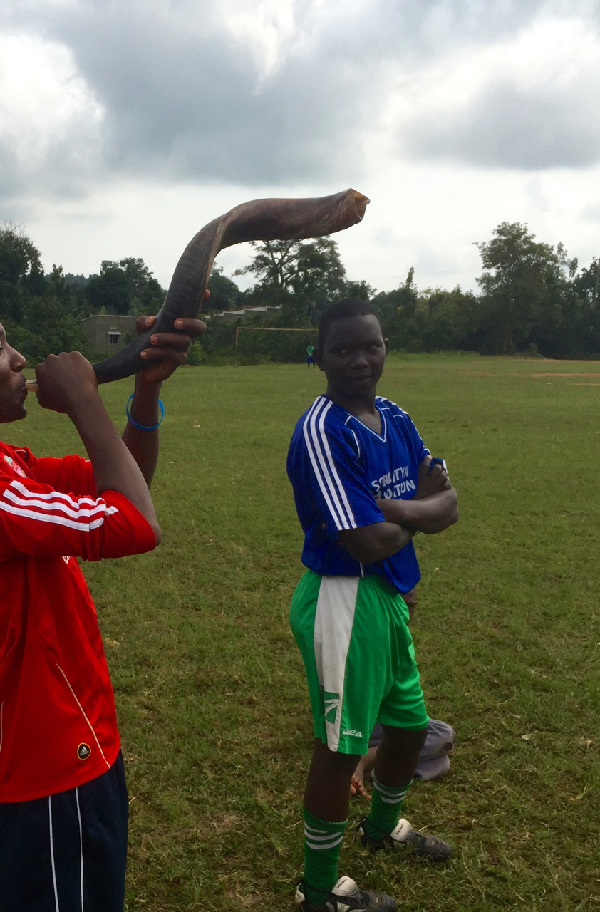 The shofar of victory is blown as Team Joyful scores a goal!