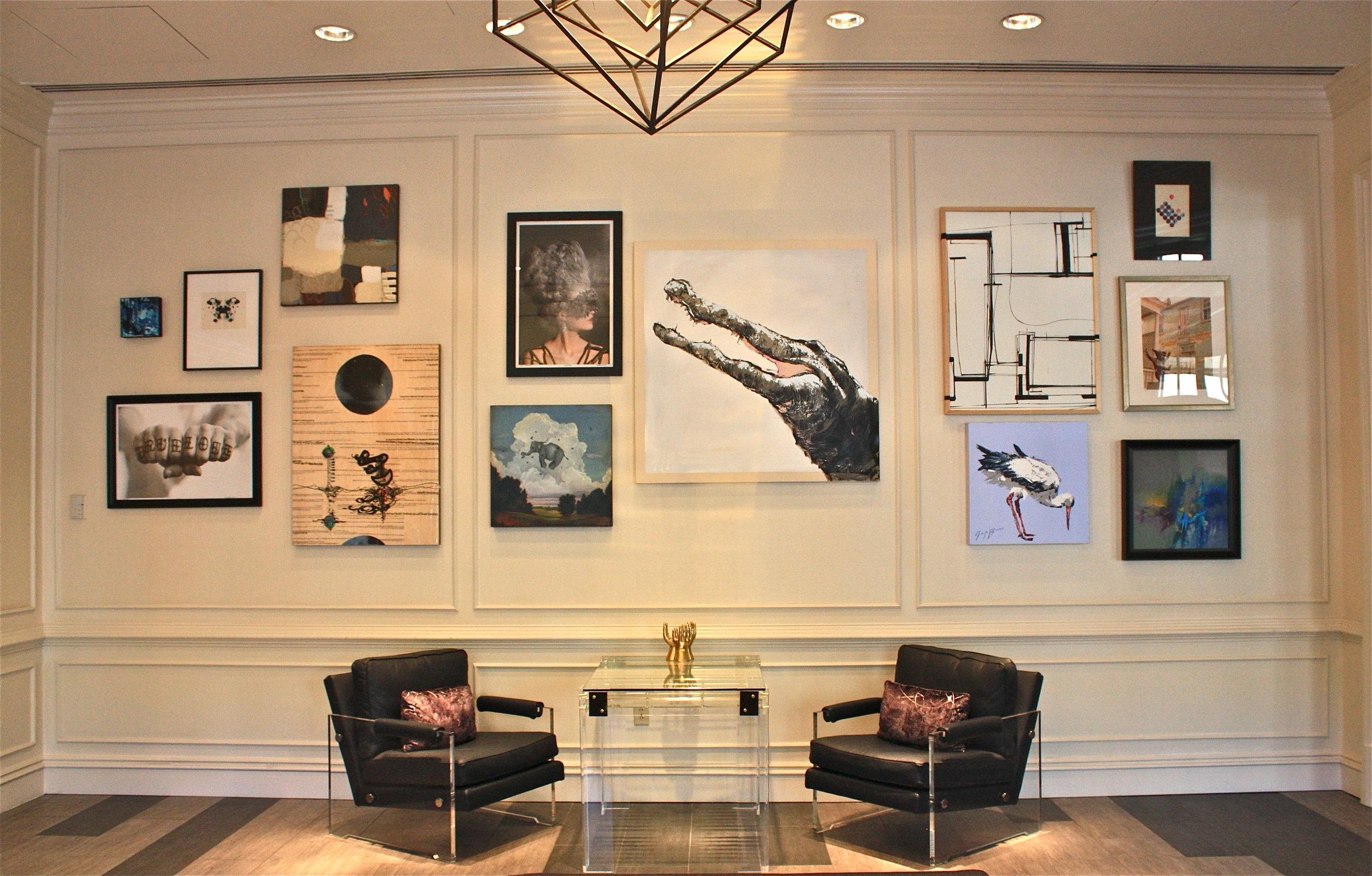 Gallery Wall at The Renaissance Hotel, Charleston