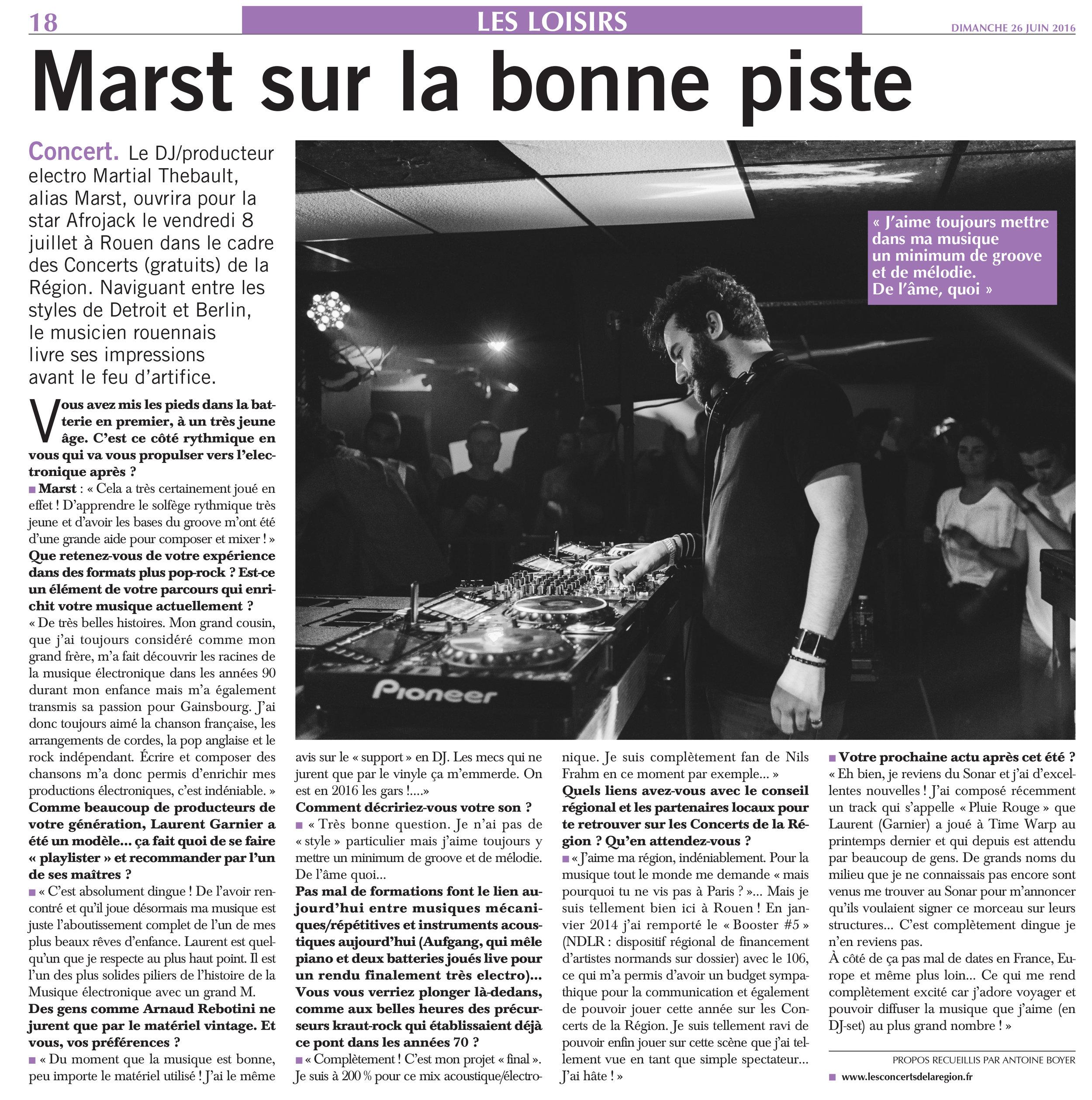 Liberté Dimanche - FR - June 2016