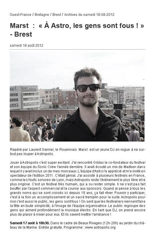 Ouest France - FR - August 2012