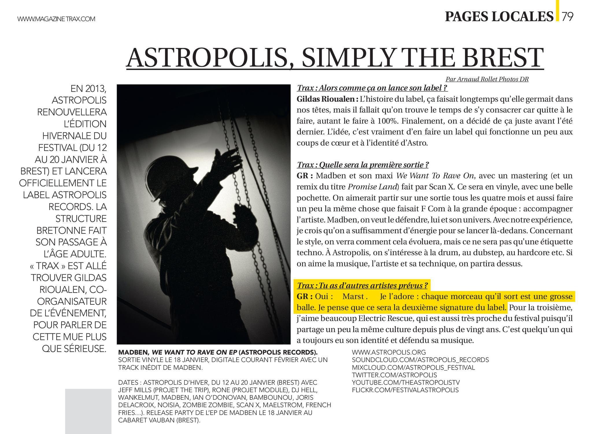 Trax Magazine - FR - January 2013