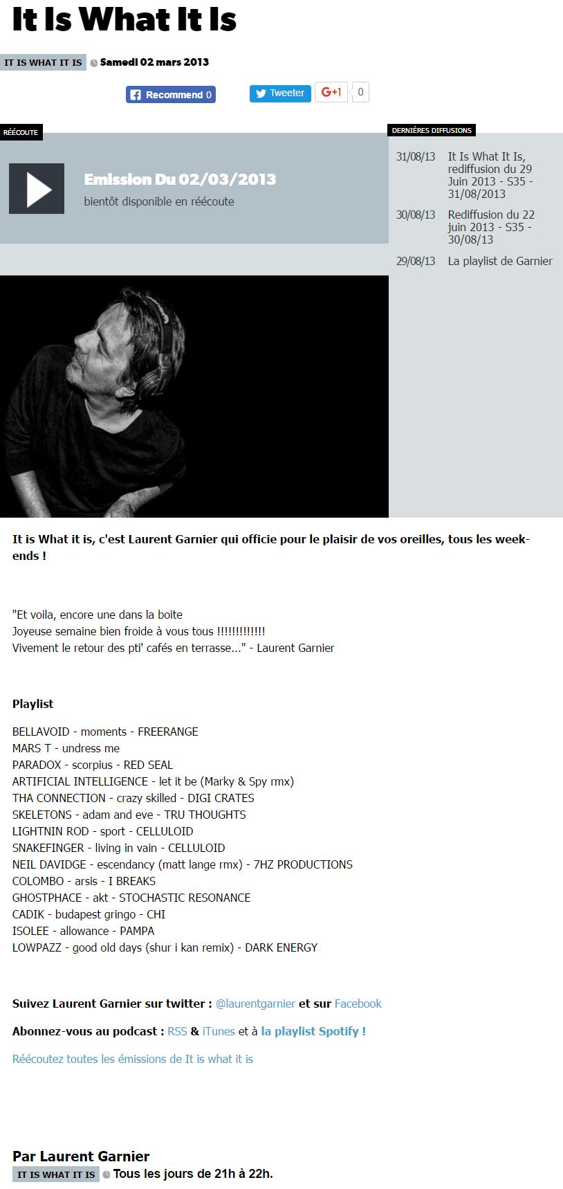 Le Mouv' - FR - March 2013