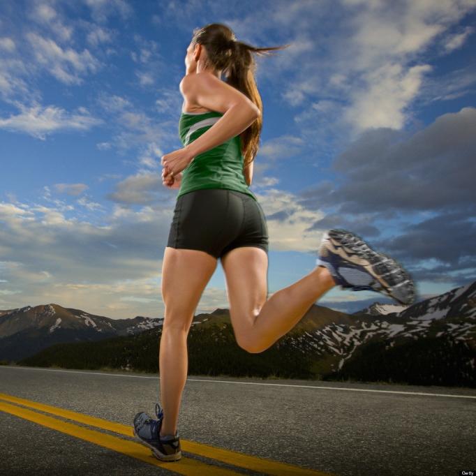 girl running after chiropractor visit