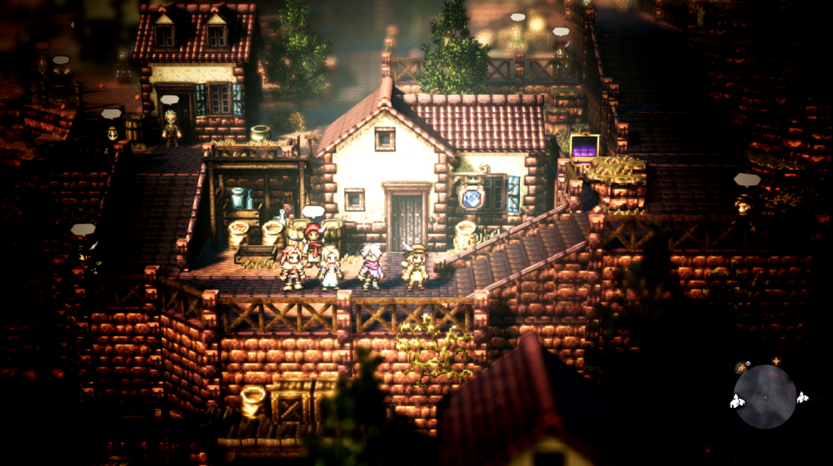 Octopath Traveler is a unique 3D world with 2D flair.