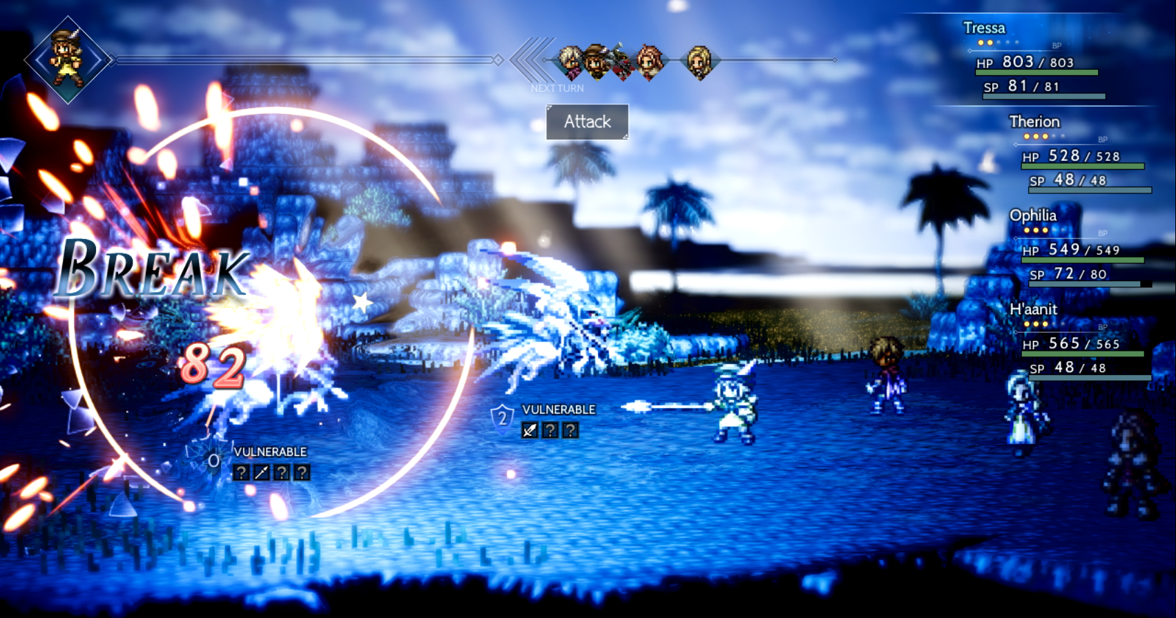 The battle system is a refreshing take on 16-bit style turn-based RPGs' offerings.