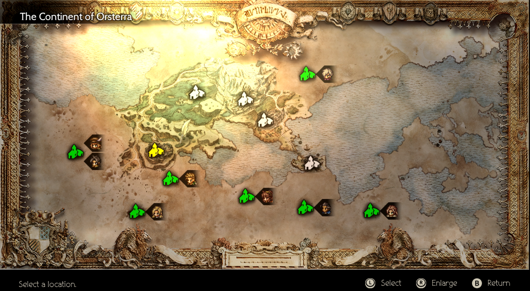 The overworld map seems small, but packs quite a lot of content.