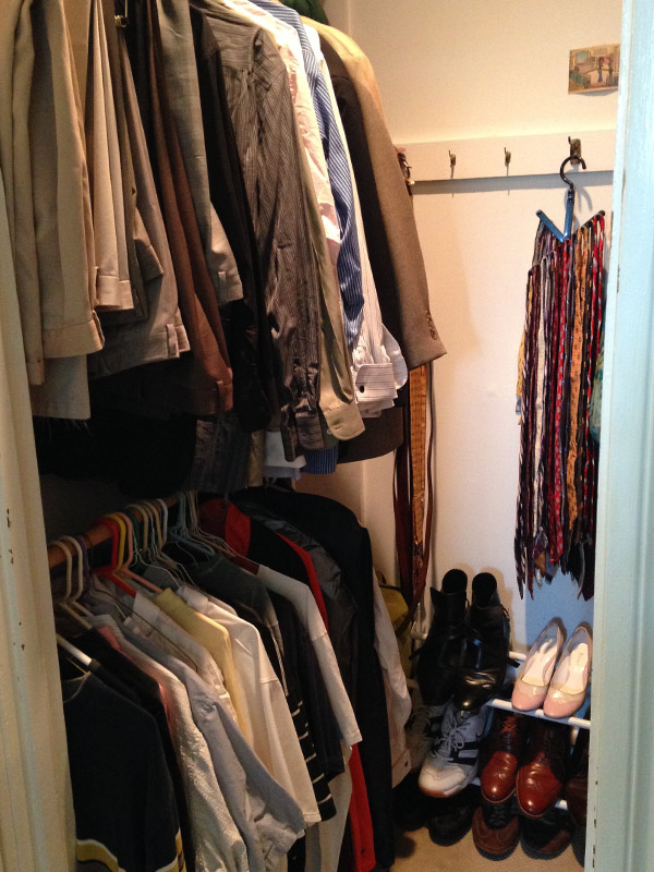 Walk-in closet - left side AFTER