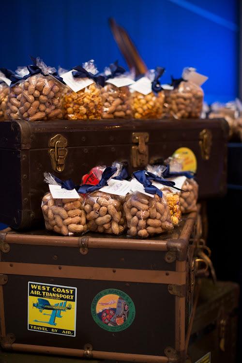 Peanuts + Popcorn Wedding Favors