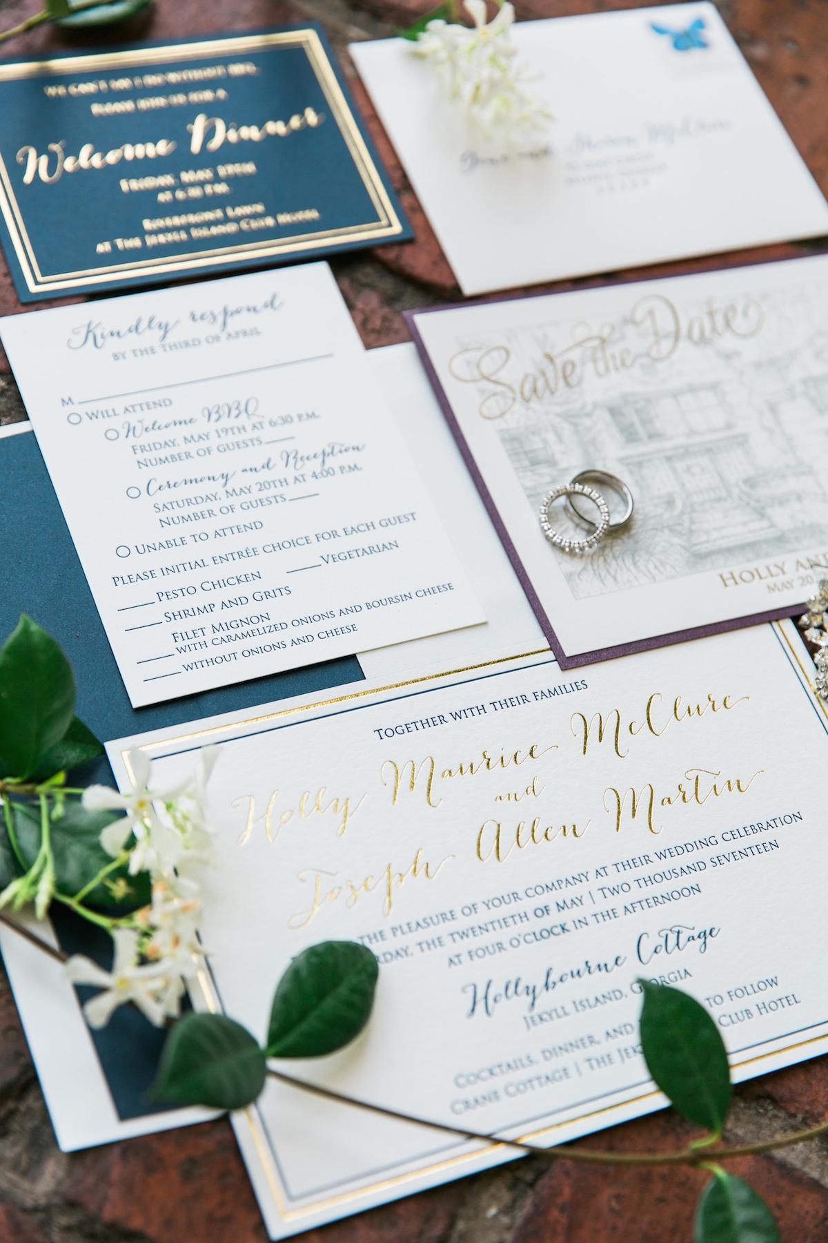 Navy and Gold Foil Wedding Invitations.jpg