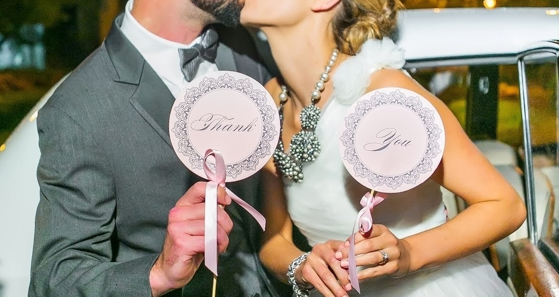 Bride + Groom Signs