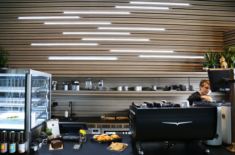 Atomic Cafe, Wynyard Quarter by Paul Izzard Design