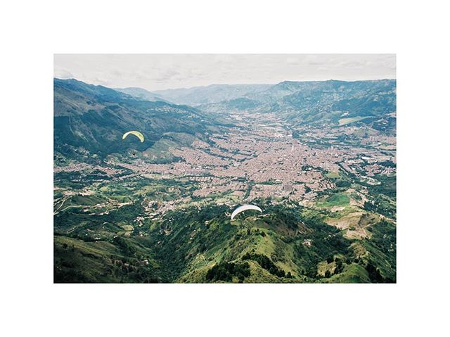 Finally got my film back. First up is paragliding over Medellin