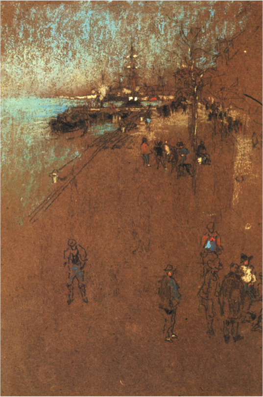 The Zaterre: Harmony in Brown and Blue; Whistler