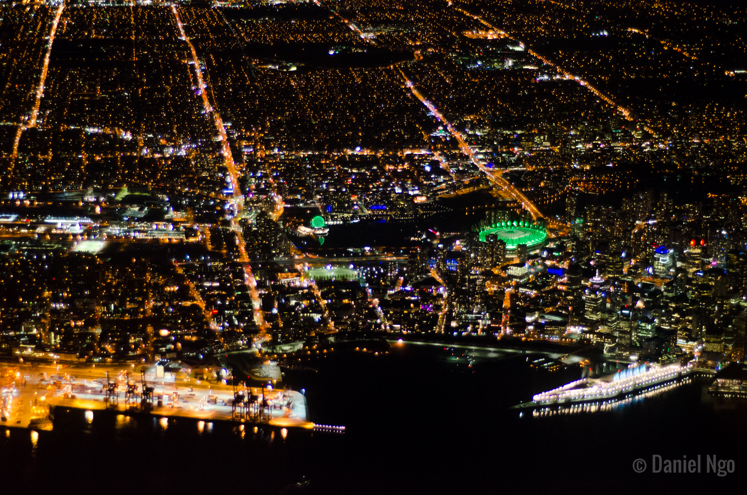 Night Flight Series - Downtown View 1