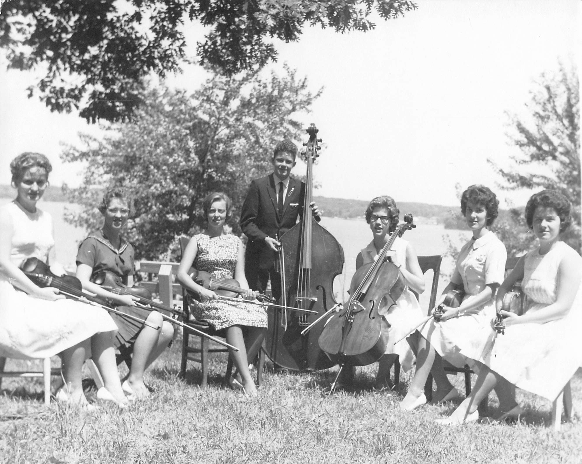 Students at first camp in 1962