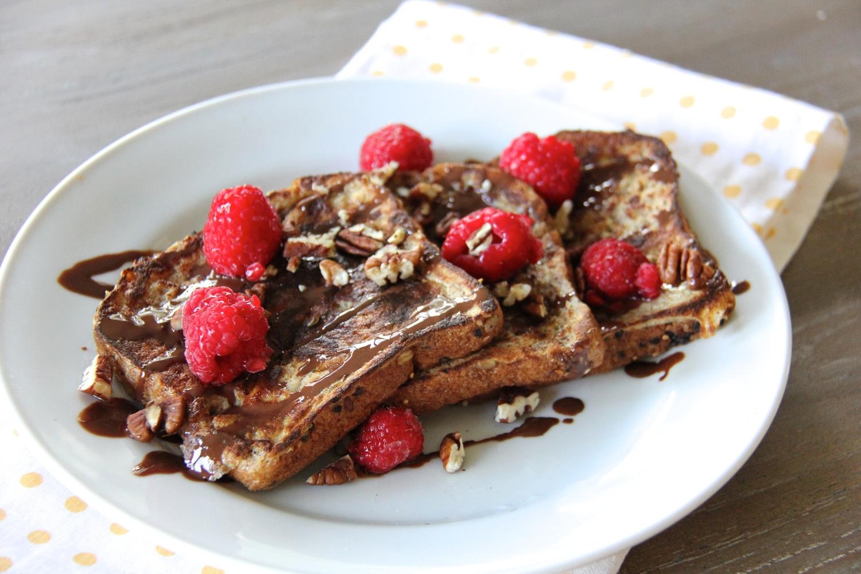 Chocolate Raspberry French Toast