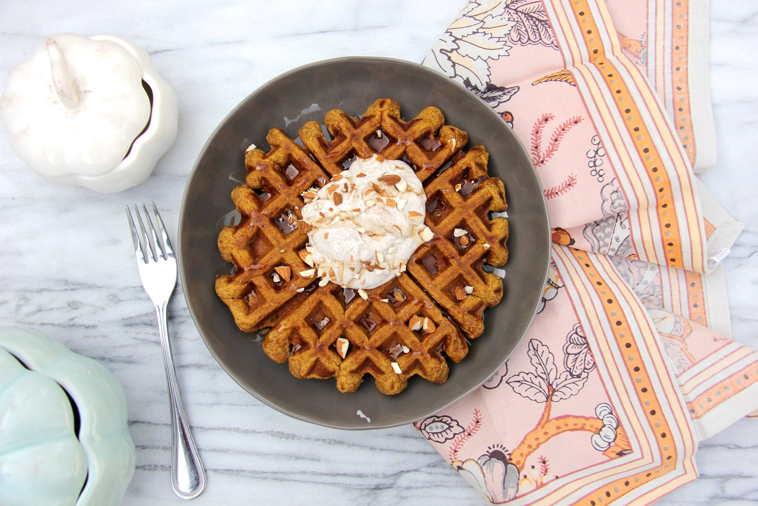 Protein-Packed Pumpkin Waffles