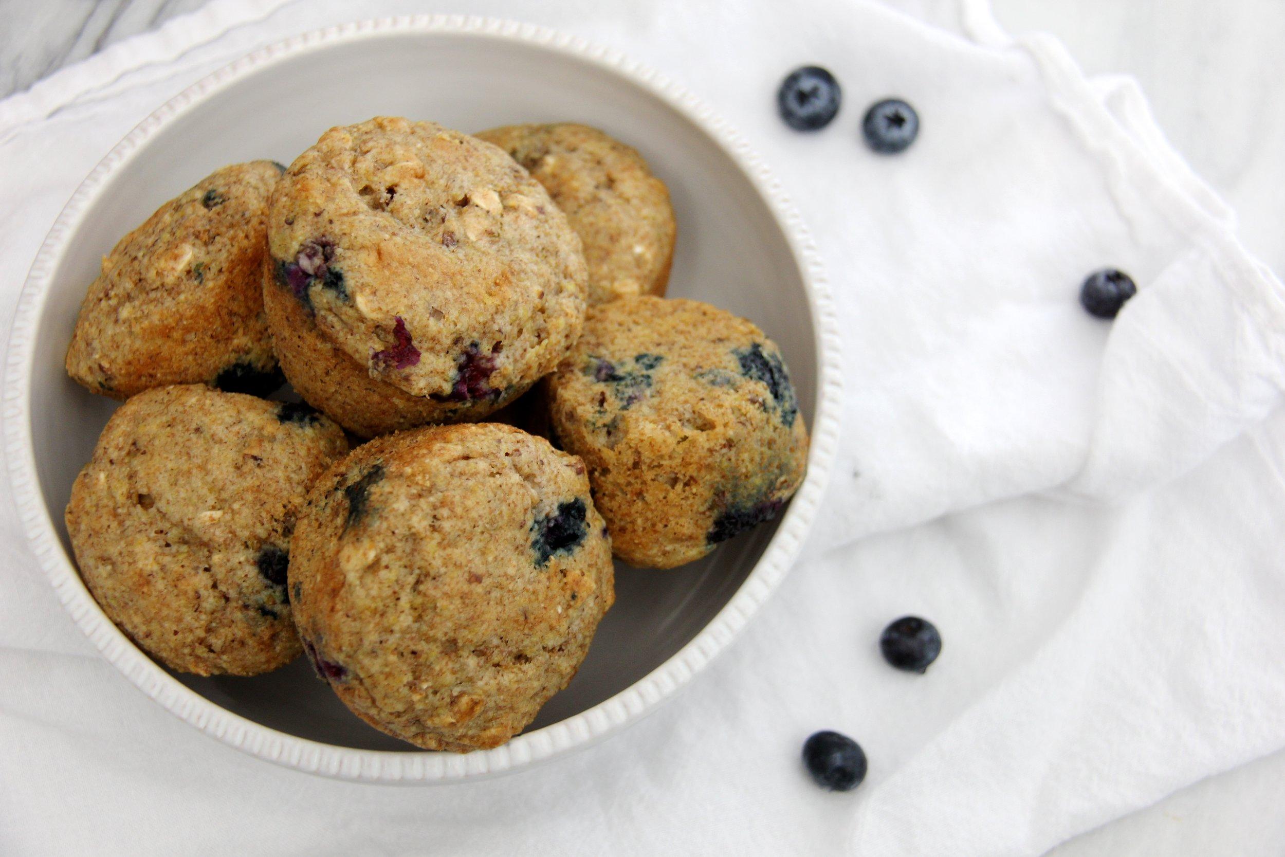 Health Nut Blueberry Muffins