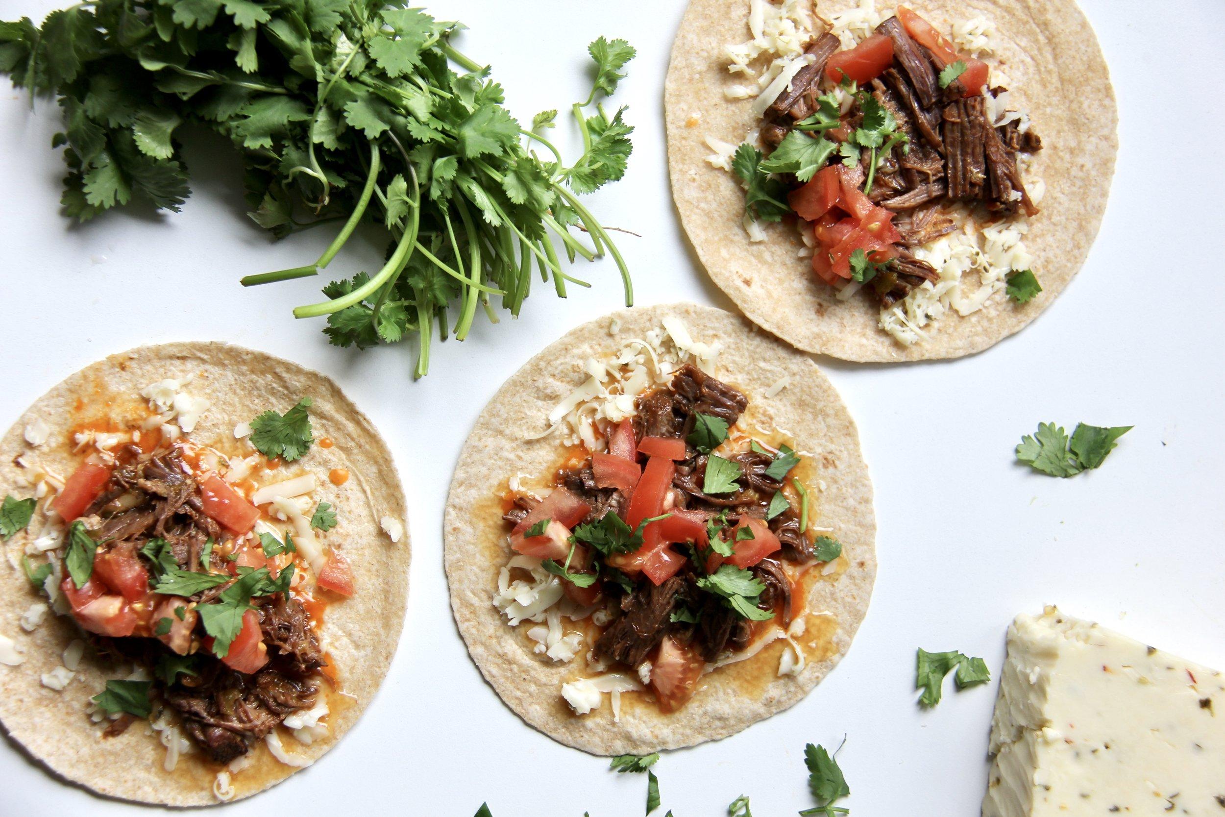Instant Pot Mesquite Beef Tacos