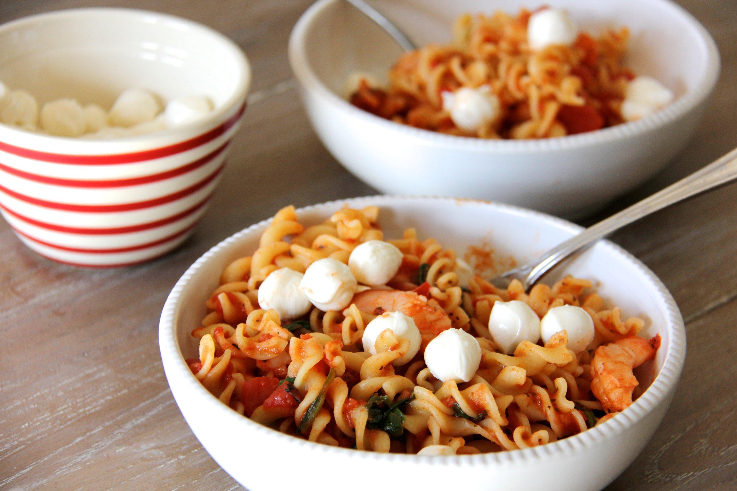 Clean Shrimp Pasta Primavera