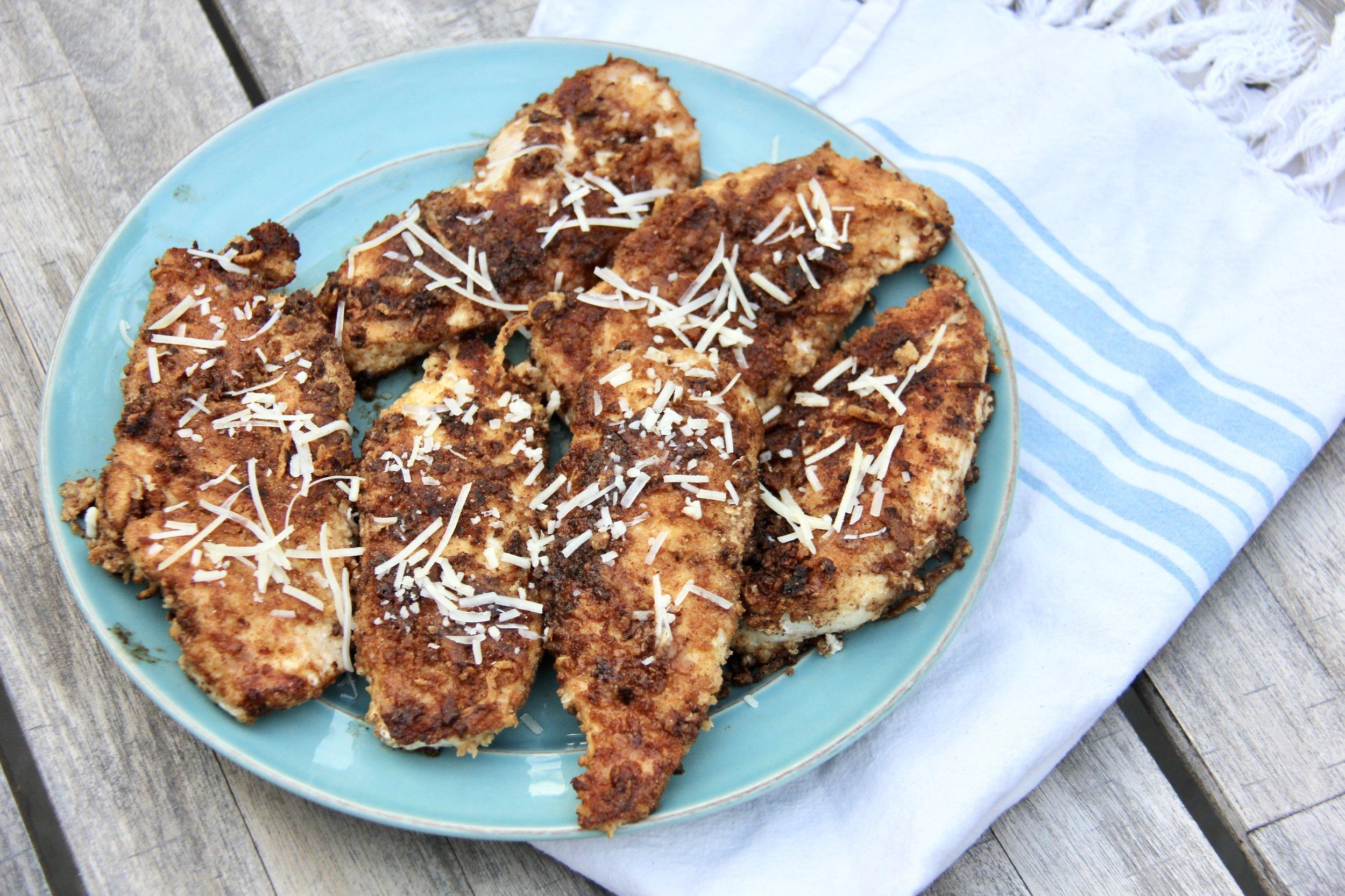 Kodiak Cakes Crispy Quick Parmesan Chicken