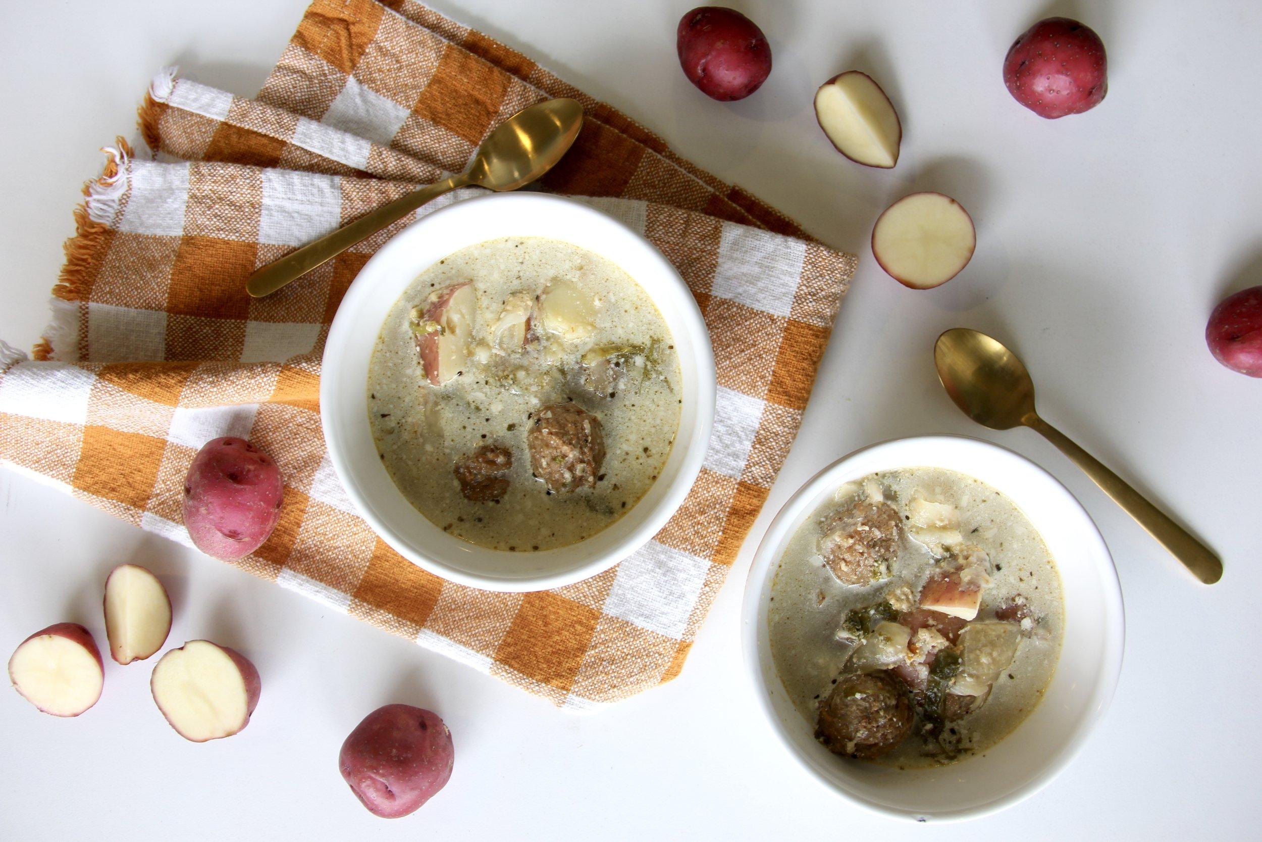 Instant Pot Meatball + Veggie Soup
