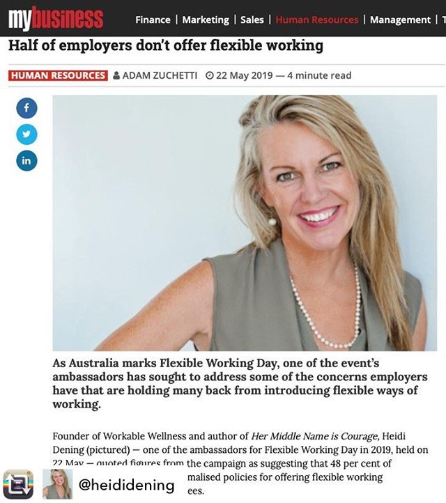 Repost from @heididening - As an ambassador for the International Flexible Working Day, (which is today), I gave the good, the bad, and the ugly insights I have learned from the work I do and the 'My Business' publication wrote an article on it.  #FWday2019 #FlexWorkFullLife #MyBusiness
