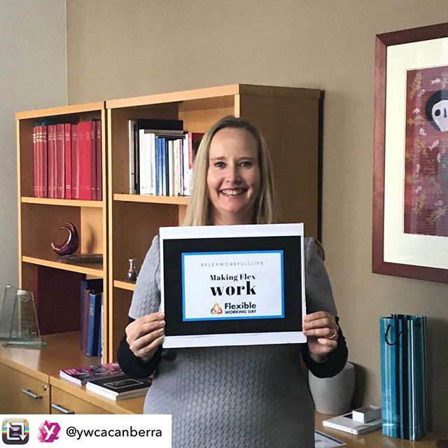 Repost from @ywcacanberra - Today is Flexible Work Day 🎉⏰ and we are proud that our CEO 👑 Frances Crimmins is a Flexible Work Ambassador. We believe that providing flexible working arrangements inside and outside of the workplace is integral to achieving gender equality, establishing work-life balance and improving the well-being of staff 👍🏻👩🏽‍⚕️👩🏽‍🍳👩🏼‍💻👩🏻‍🌾👩🏿‍🚒 If you want to know more about #FWDay2019 ➡️ www.flexibleworkingday.com