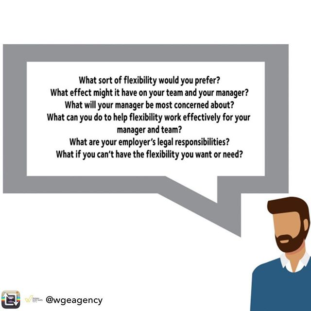 Repost from @wgeagency - Interested in working flexibly but not sure how to ask for it? We've got you covered - see our Employee Flexibility Toolkit 🛠️ Link in bio! . . #FWDay2019 #FlexWorkFullLife #GenderFlexGap #TackleFlexism #WorkLifeBalance #Home #Work #BalanceIsKey #Balance