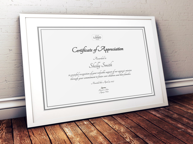 Volunteer engagement volunteer management free certificate of appreciation