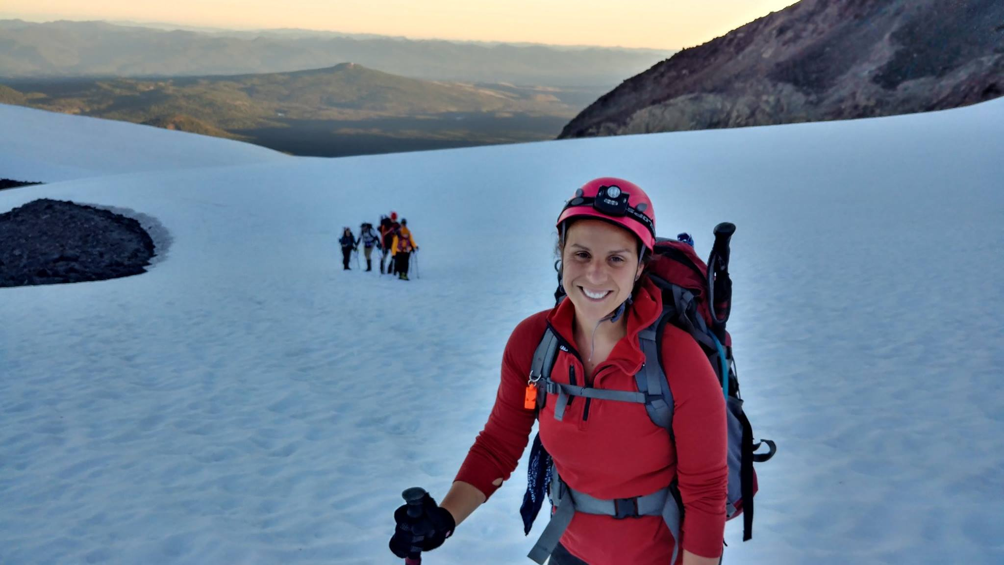 Our founder, Stefanie, at the summit of Middle Sister. Getting here required some serious prep and planning!
