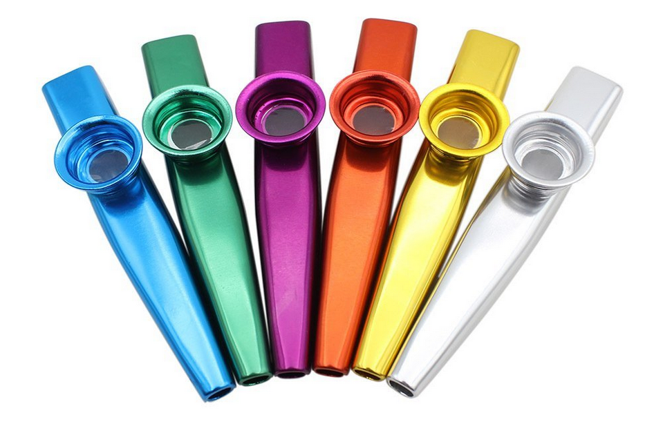 Kazoos - You can find packs of cheap kazoos at any party store, though I find this whimsical set to be particularly irresistible!