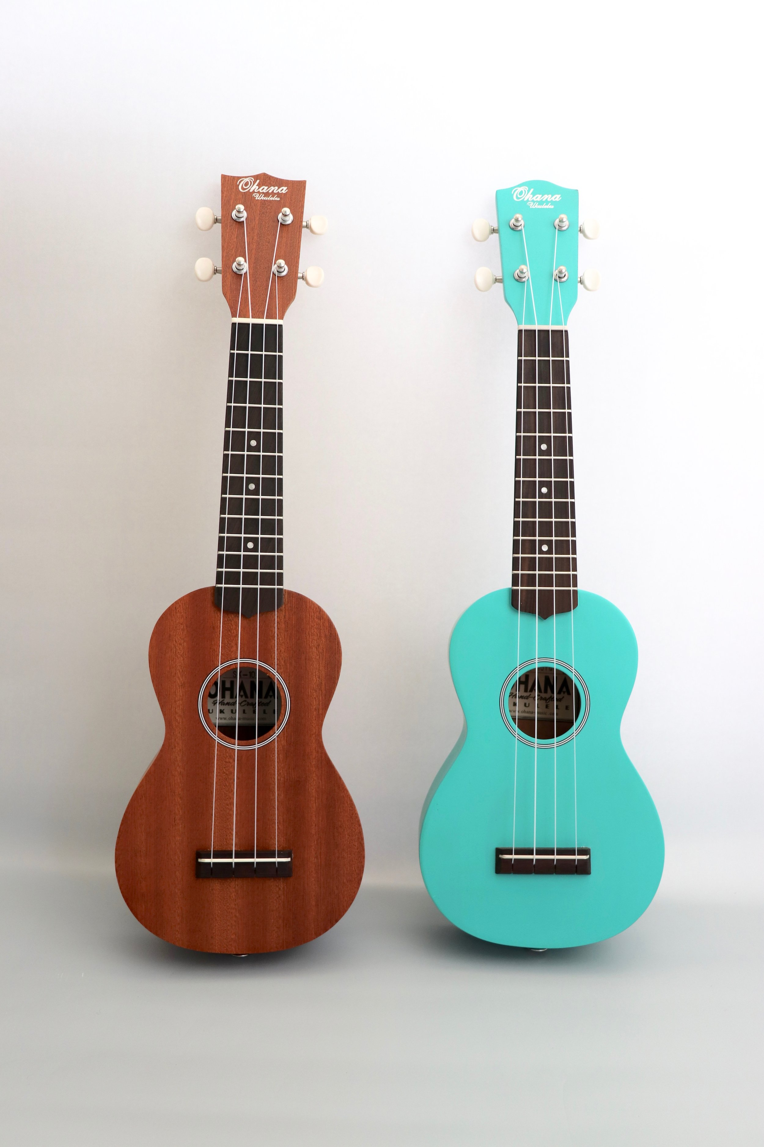The  Ohana SK-10 ukulele starter kits , available in wood tone and turquoise