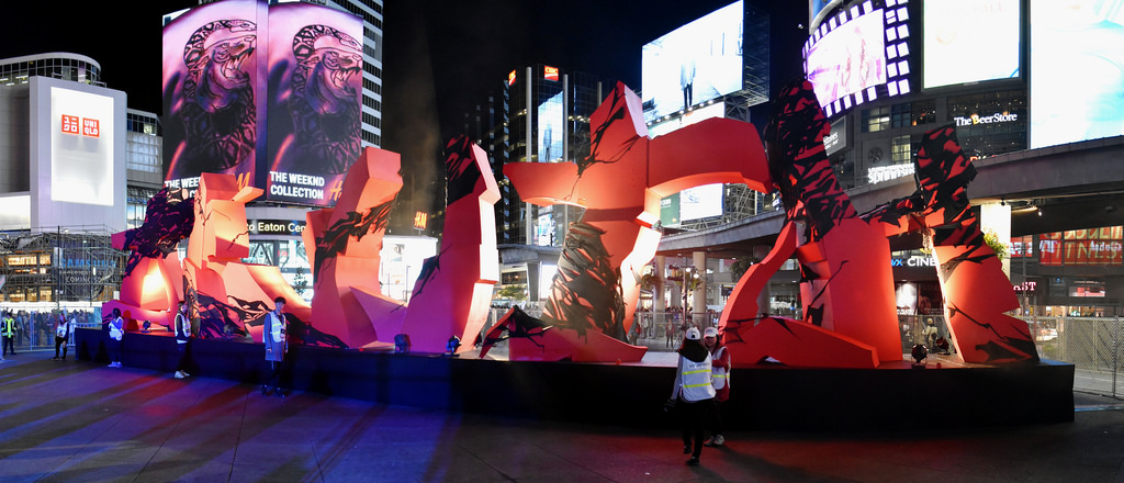 KWEST at Yonge and Dundas in Toronto as part of Nuit Blanche 2017